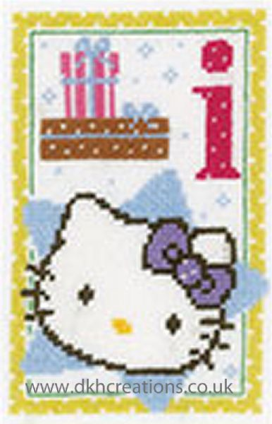 Hello Kitty Alphabet Letter I Cross Stitch Kit